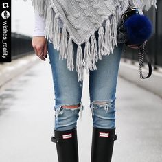 #Repost @wishes_reality with @repostapp.  A cozy rainy day look is up #ontheblog  shop it at wishesandreality.com or @liketoknow.it www.liketk.it/25HNB #liketkit @bluntumbrellas #Furbagcharm #furpompomkeychain #furpompom #fashionblogger