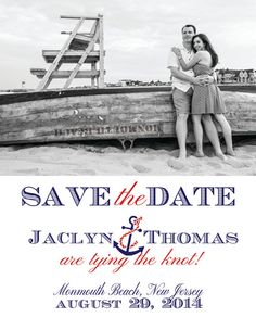"Custom Photo Nautical Wedding ""Save the Date"" Magnets 