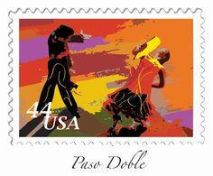 US Stamp - Partner Dances Paso Doble