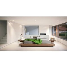 Modrest Opal Modern Low Profile Walnut Platform Bed - 1100.0000