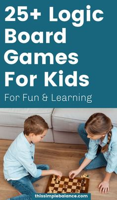 25 Best Logic Board Games for Kids: help your kids develop perseverance, critical thinking and reasoning skills. Have fun and learn at the same time!  #homeschool Educational Board Games, Preschool Activities, Learning Through Play, Kids Learning, Board Games For Kids, Critical Thinking Skills, Kids And Parenting, Kids Playing, Homeschooling