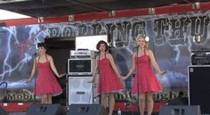 Beverly Belles at OMeara Ford 100th Anniversary Its O'Meara Ford's 100th Anniversary Party and on the stage is the Beverly Belles band.