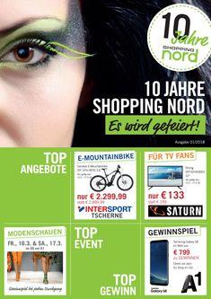 Shopping Nord Jubiläumsflyer März 18 - es wird gefeiert! Shops, Events, Shopping, 10 Years, Gifts, Tents, Retail Stores