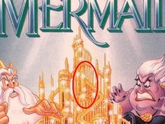 Little Mermaid  Disney    Imagery: Subliminal penis on the castle. Sexualization of children / pedophilia agenda.