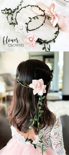 Flower Crowns for your flower girl are a cute way to dress up the little  girls 113bdd5c1e