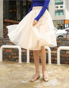 Midi length Ballerina tutu skirt ...This skirt is fabulous. I'll take one in every color. ;) Really, though...