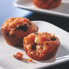 All the flavors of a Greek pizza make these savory muffins bite-size treats for adults and kids alike.