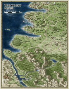 Fantasy City Map, Fantasy World, World Painter, Dungeons And Dragons 5, Imaginary Maps, Word Map, Rpg World, Forgotten Realms, Dungeon Maps