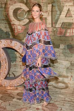 Poppy Delevingne in Chanel with a bohemian vibe.
