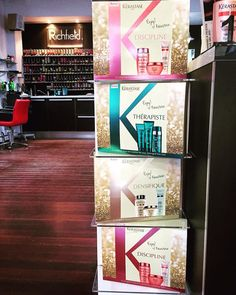 Beautiful new Kerastase packs! Come in and chat to our product guru Cerise for more information!   #kerastase #packs #products #hair care #love #richfield #hairdressing #shampoo #conditioner #masque #serum