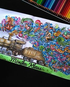 #imagimorphia #animorphia #kerbyrosanes #kohinoor #polycolor #colors… --> If you're in the market for the top coloring books and writing utensils including gel pens, colored pencils, watercolors and drawing markers, go to our website at http://ColoringToolkit.com. Color... Relax... Chill.