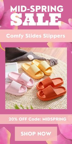 The Comfy Slides Slippers are soft, thick, and comfortable relieving your foot and joint pain. Wear them for 12+ hours without having any discomfort. Currently 60%OFF with Free Shipping!! Only on neulons.com Anti Chafing, Sore Feet, Take Off Your Shoes, Slip And Fall, Foot Pain, Spring Sale, Walk On, All About Time, Slippers