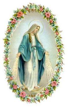 IMAGENES RELIGIOSAS: Virgen de la medalla milagrosa o Virgen de las gracias