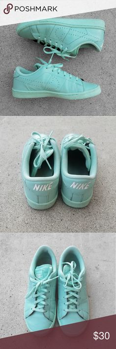 f360ac139a3c Nike Tennis Classic PRM (GS) Green Glow  mint green color   I m a women s  size and these fit me