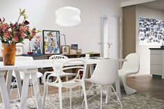 All White On The Night - Dining Room Ideas – Decorating, Design & Wallpaper (houseandgarden.co.uk)