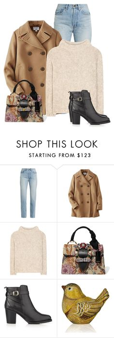 """""""Untitled #1964"""" by cardigurl ❤ liked on Polyvore featuring Yves Saint Laurent, Uniqlo, Tom Ford, Miu Miu, Kurt Geiger and Judith Leiber"""