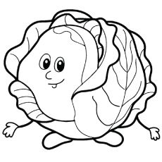 Fresh Cabbage Tales to Color