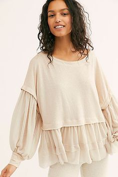 Sierra Long Sleeve by We The Free at Free People, White, S Casual Hijab Outfit, Casual Fall Outfits, Classy Outfits, Hijab Dress, Hijab Fashion, Boho Fashion, Fashion Dresses, Fashion Design, Muslim Fashion