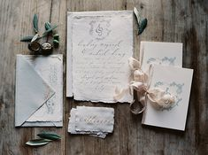 A gorgeous invitation suite for an organic-inspired destination wedding in italy.