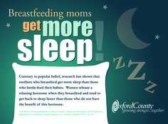 Did you know? Studies have shown that breastfeeding moms get more sleep!