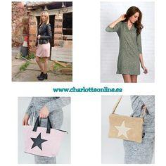 Dos maneras de llevar nuestro vestido Catalina 15,50€ (rosa y verde), bolso Star 19,90€, Bolso Stela 15€ todo en nuestra web www.charlotteonline.es A partir de 40€ gastos de envío gratis