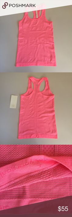 +NWT lululemon swiftly tech racerback +NWT lululemon swiftly tech racerback +4 +HNEP (neon pink) +all tags attached +no trades lululemon athletica Tops Tank Tops