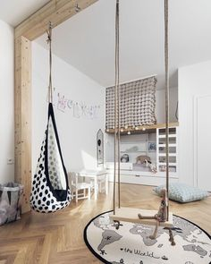 One of our favourite kid's rooms by @flatwhitearchi  OYOY The World Rug is now back in stock ✨ . #kidsroom #kidsdecor #kidsroomdecor…