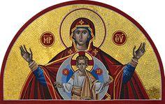 Mosaic Designs, Mosaic Patterns, Pattern Art, Mosaic Art Projects, Mosaic Portrait, Mosaic Pieces, Byzantine Icons, Catholic Art, Orthodox Icons