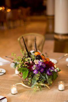 Austin, TX, boutique floral and event design company Elk Antlers, Centerpieces, Table Decorations, Pheasant Feathers, Bohemian Design, Belly Dancers, Austin Tx, Beautiful Couple, Event Design