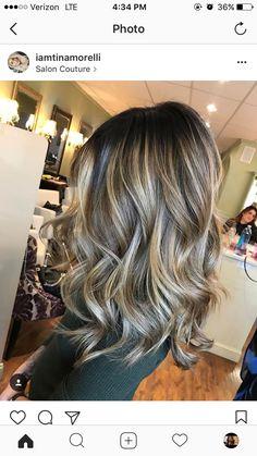 Brown Hair Balayage, Hair Color Balayage, Hair Highlights, Ombre Hair, Haircolor, Hair Color And Cut, Hair Affair, Gorgeous Hair, Beautiful