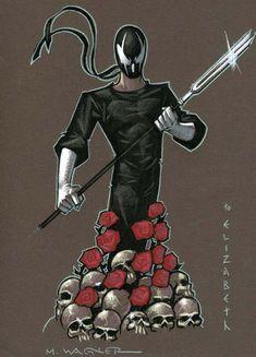 Image detail for -Matt Wagner - Hunter Rose Grendel drawing Comic Art