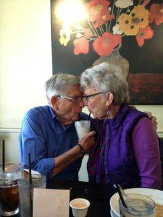 Cute older couple