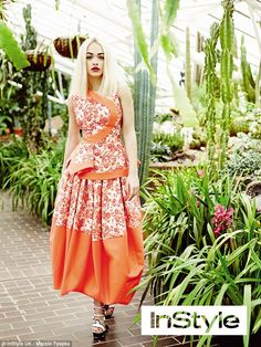 High fashion female: Rita Ora looks gorgeous as she makes her debut on the cover of InStyle UK for the April issue of the magazine
