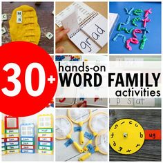 Word Family Pull-Out Activity - I Can Teach My Child!