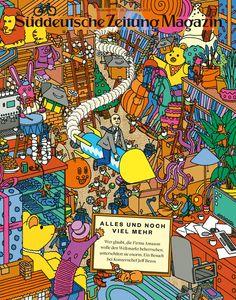 Süddeutsche Zeitung Magazin 52/2015 Coverillustration: Jim Stoten; Art-director: Thomas Kartsolis; Deputy Art-director: Birthe Steinbeck; Design: David Henne, Anna Meyer, Jonas Natterer