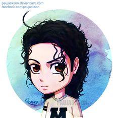 Michael Jackson chibi by PauJackson.deviantart.com on @DeviantArt