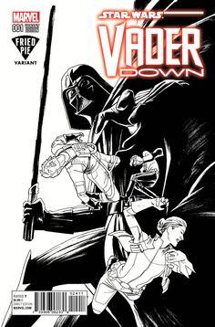 Star Wars Vader Down Black & White Publisher: Marvel Comics Release Date: Cover Artist: Kris Anka Anakin Obi Wan, Anakin Skywalker, Comic Books For Sale, Comic Book Covers, T 4, Dark Side, Marvel Comics, Star Wars, Darth Vader