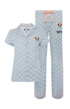 Mickey Mouse Blue Pyjama Set Cute Pjs, Cute Pajamas, Girls Pajamas, Pajamas Women, Pajama Outfits, Disney Outfits, Primark Pyjamas, Womens Pjs, Disney Pajamas