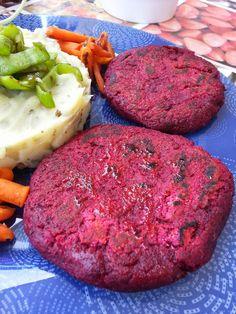 Hamburguesas de remolacha y zanahoria ( con algo de pan molido)
