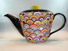 "Jameson&Tailor Keramik Teekanne  1,5 L Dekor  "" Regenbogen 7370  """