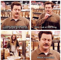 parks and recreation memes   ... -Swanson-Enjoys-Human-Natures-At-Its-Most-Primal-Parks-and-Recreation