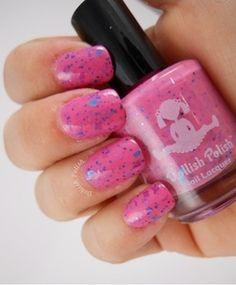 Dollish Polish - I ♥ Nerds - swatched on nail wheel $5.00 - SOLD