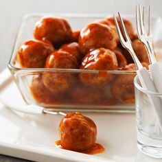 Saucy Apricot-Spiced Meatballs - make ahead recipe