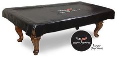 Table Covers 91569: 8 Corvette - C6 Black Billiard Pool Table Cover BUY IT NOW ONLY: $104.0
