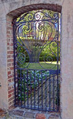 Some of the beautiful iron work in Charleston, SC