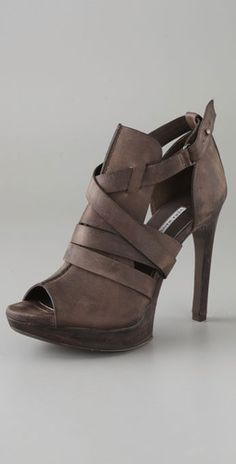 Vera Wang Cara Open Toe Booties