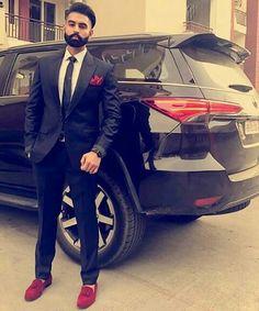 ParmishVerma♠ Caption Aaj Tusi Dasso, Off to punjabi Mens Fashion Blog, Mens Fashion Suits, Star Fashion, Lover Fashion, Blazer For Men Wedding, Wedding Men, Parmish Verma Beard, Punjabi Men, Blazer Outfits Men