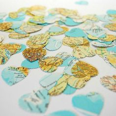 Nostalgic, intriguing and delicately beautiful scalloped edge heart confetti.Any queries or questions then please don't hesitate to 'Ask seller a question' before you order- click above.Completely handmade to order confetti to decorate your special event. Made from genuine upcycled maps and atlases - these aren't printed from the internet! Important: this is a handmade product - each individual heart is cut to order from genuine maps and so the location, pictures and wording will vary from…
