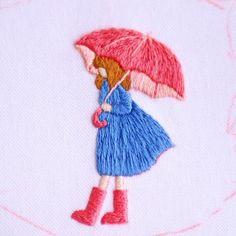 Wonderful Ribbon Embroidery Flowers by Hand Ideas. Enchanting Ribbon Embroidery Flowers by Hand Ideas. Embroidery Needles, Hand Embroidery Stitches, Silk Ribbon Embroidery, Crewel Embroidery, Hand Embroidery Designs, Bordados E Cia, Seed Stitch, Cross Stitch, Thread Painting
