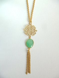 Eliza Long chain necklace with pendant by Catherine Marie on Etsy, $49.00 #jewelry #necklace
